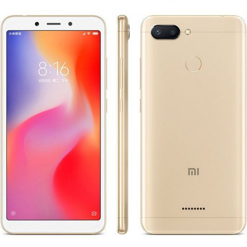 Смартфон Xiaomi Redmi 6 32Gb (золотистый)